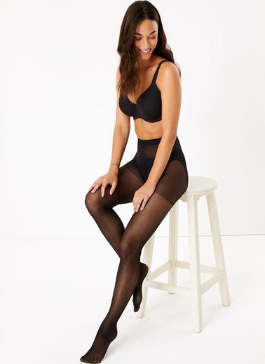 Marks & Spencer 3'lü 15 Denye Külotlu Çorap Seti Siyah